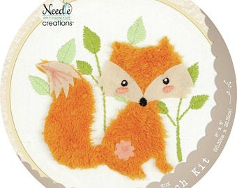 Fox 3D Embroidery Kit by Needle Creations