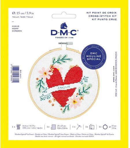 DMC Counted Cross Stitch Kit - Heart