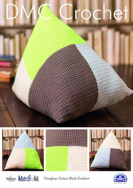 DMC Triangular Cushion Cover Crochet Pattern