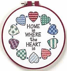 Home is where the Hear is Cross Stitch Kit By Dimensions