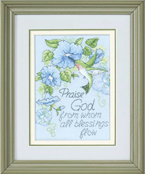 Hummingbird and Morning Glories Cross Stitch Kit By Dimensions