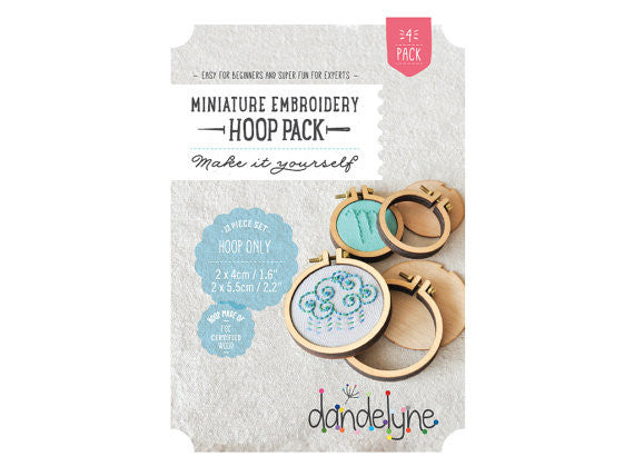 Dandelyne Circular Mini Hoop (set of 4)