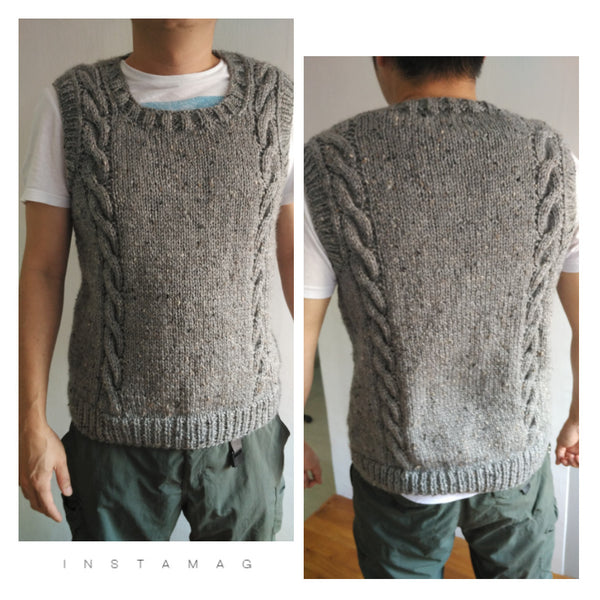 Guided Craft Project - Knit a Cable Men's Vest