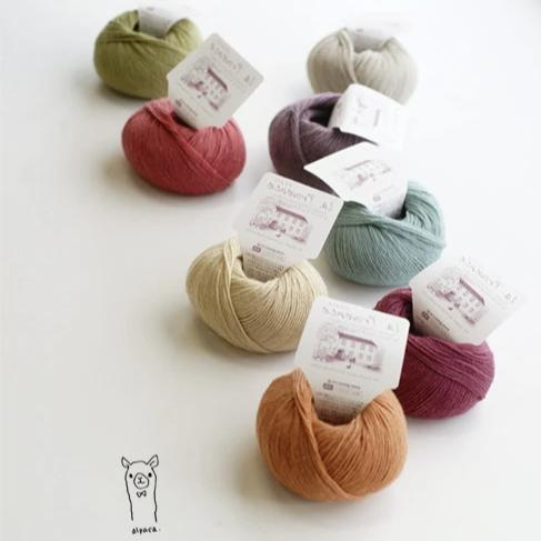 Pierrot Chiffon Yarn, 100% Alpaca, Made in Japan (30g)