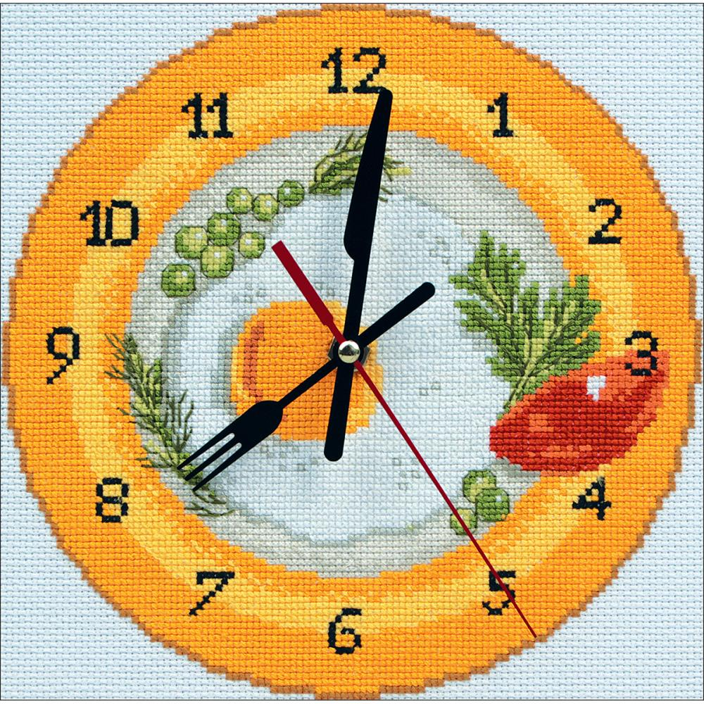 It's Breakfast Time Clock Cross Stitch Kit