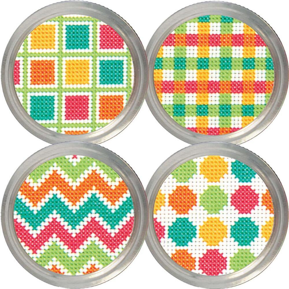 Dimension Jar Topper Cross Stitch KIT