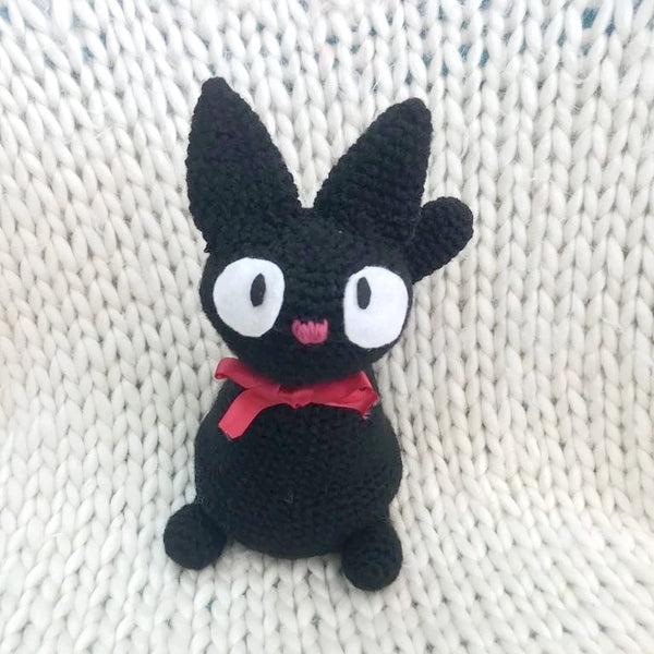 amigurumi crochet creature jiji black cat