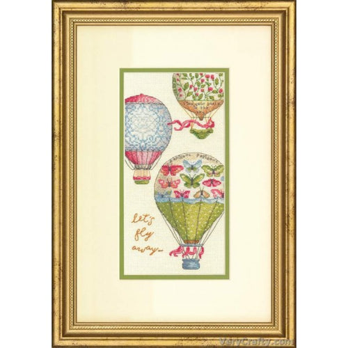Dimensions The Gold Collection Counted Cross Stitch Kit - Let's Fly Away