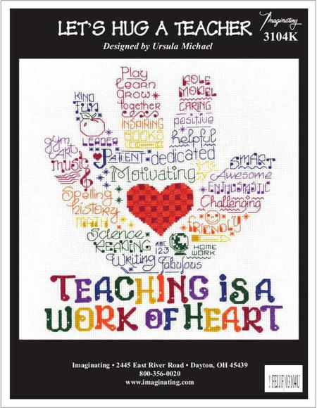Let's Hug a Teacher Cross Stitch Chart