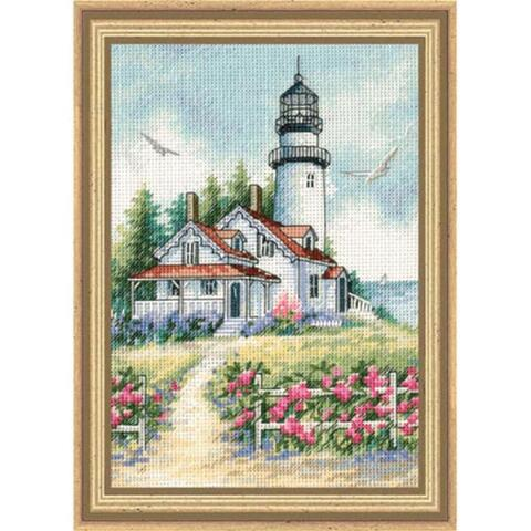 Dimensions The Gold Collection Counted Cross Stitch Kit - Scenic Lighthouse