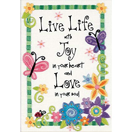 Live life Embroidery Kit By Dimensions