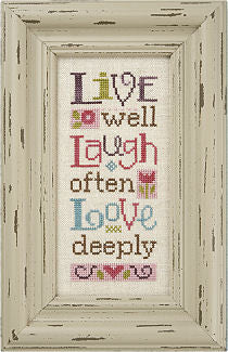 Lizzie*Kate Live Laugh Love Cross Stitch Chart