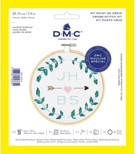 DMC Counted Cross Stitch Kit - Love Laurel
