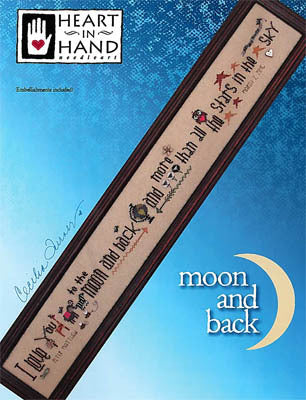Moon and Back Cross Stitch Chart