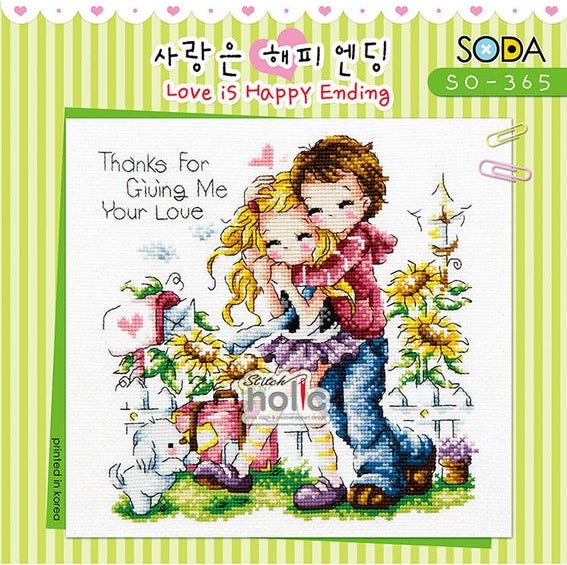"SODA ""Love is Happy Ending"" Cross Stitch Kit"