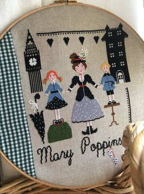 "Lilli Violette ""Mary Poppins"" Cross Stitch Chart"