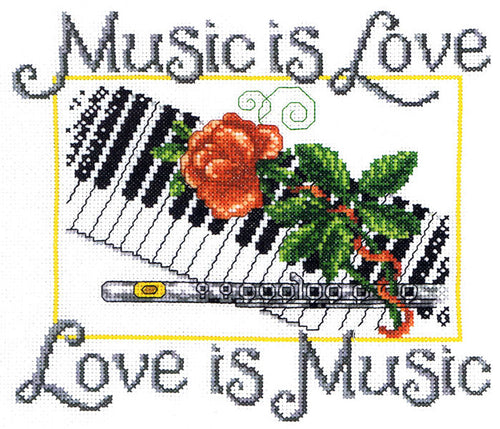 Music is Love Cross Stitch Chart