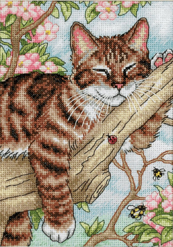 Dimensions The Gold Collection Counted Cross Stitch Kit - Napping Kitten