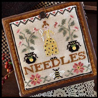Needle Lady Pocket Cross Stitch Chart