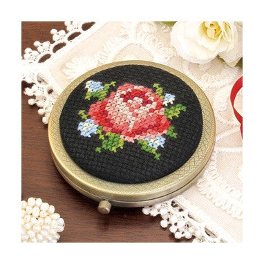 Cross Stitch Compact Mirror