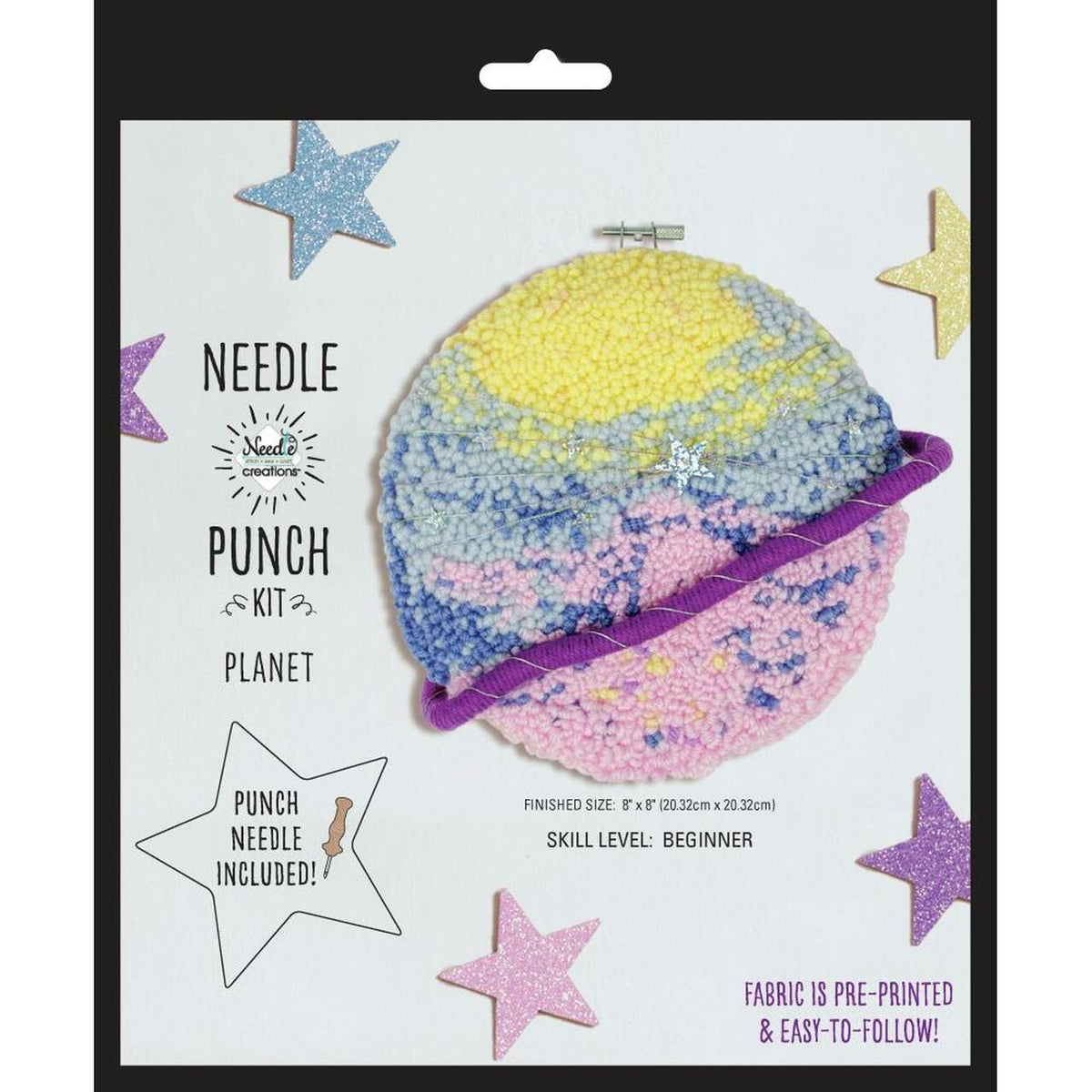 Planet Punch Needle Kit by Needle Creations
