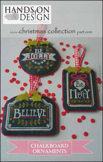 Hands on Design Chalkboard Ornament Christmas (Part 1) Cross Stitch Chart
