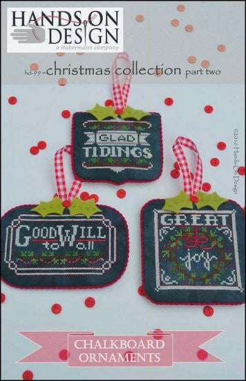 Hands On Design Chalkboard Ornament Christmas (Part 2) Cross Stitch Chart