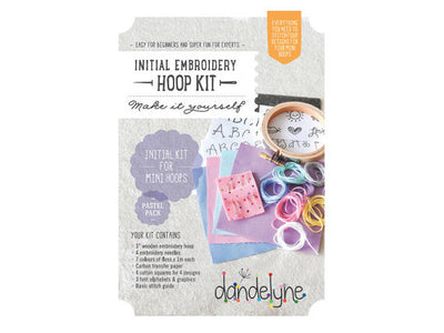 Dandelyne Embroidery Pastel Starter Mini Embroidery Pack Kit