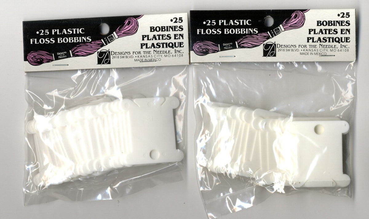 White Plastic Thread Bobbins