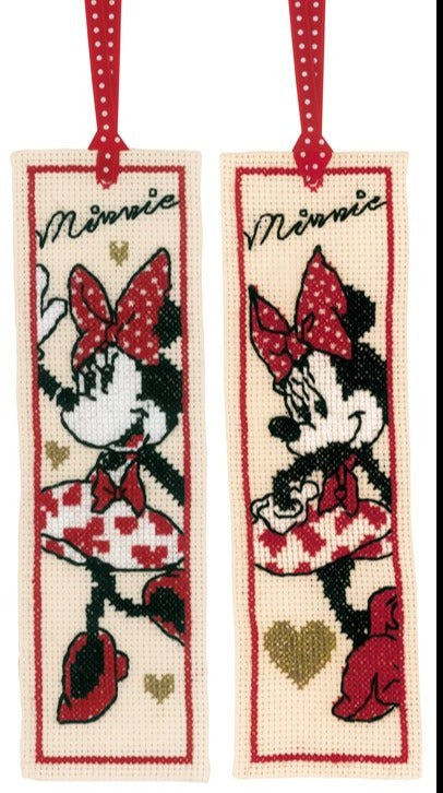 Cross Stitch Bookmark: Minnie Mouse