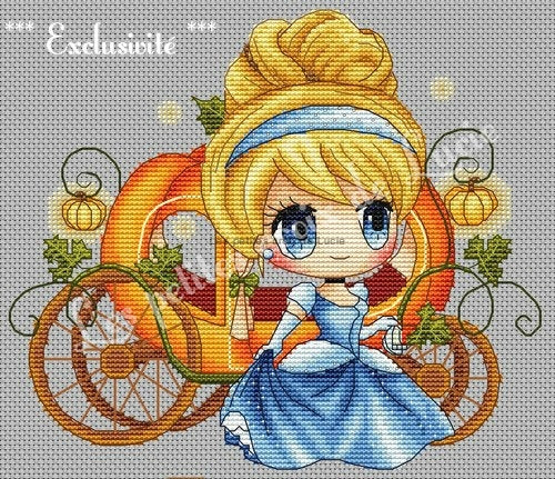 """Cinderella at the ball"" Cross Stitch Chart"