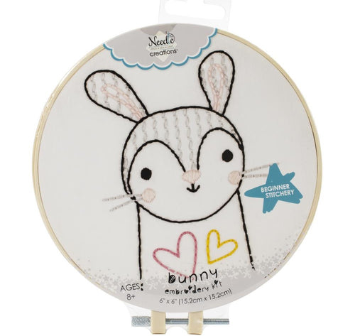 Pre-Printed Embroidery Kit- Rabbit