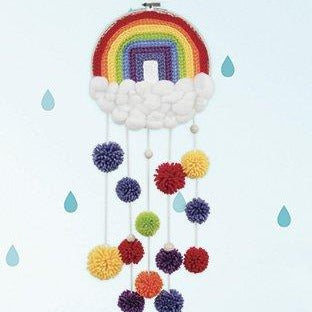 Crochet Rainbow Hoop Wall Hanging Kit