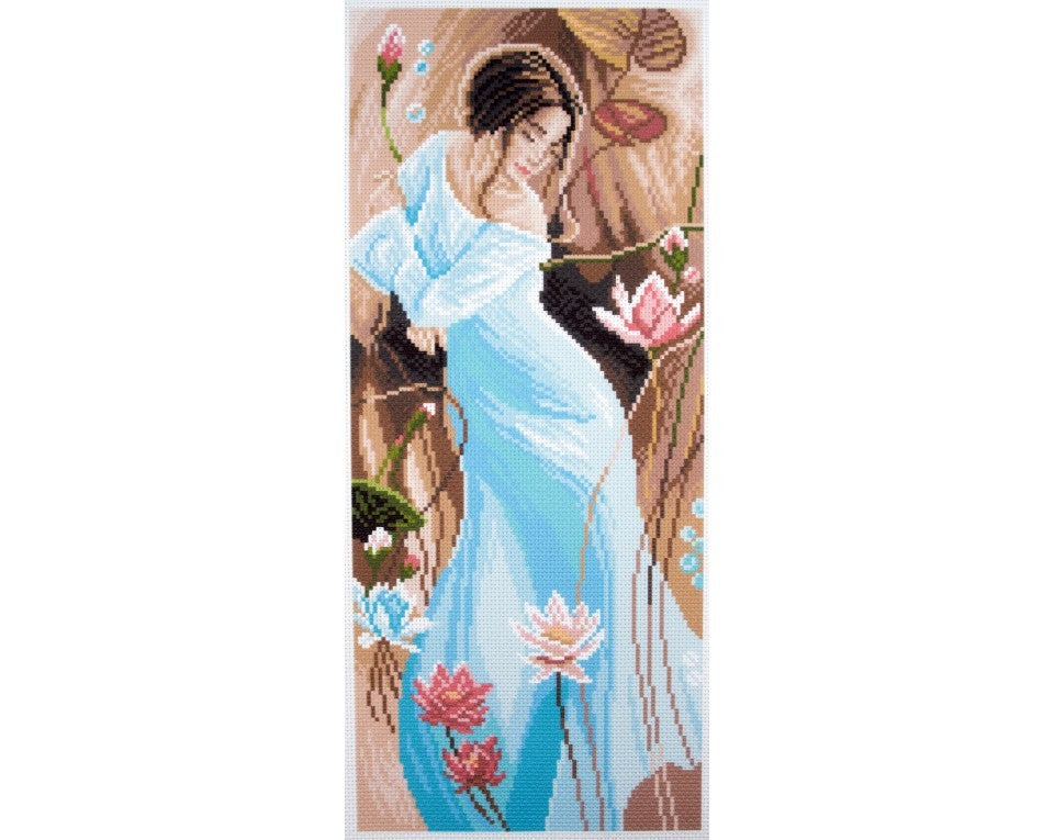 Printed Canvas Cross Stitch Kit- Romance