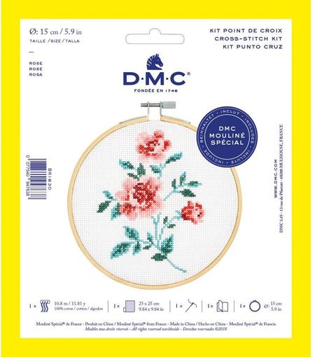 DMC Counted Cross Stitch Kit - Rose