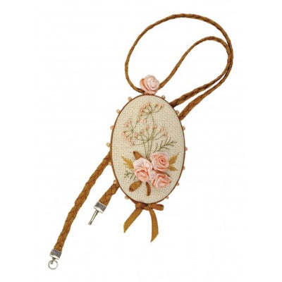 Riolis Rose Ribbon Embroidery Pendant Kit