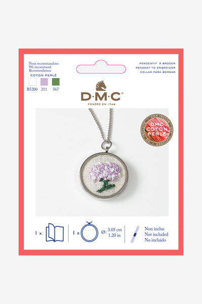 DMC Round Embroidery Metal Pendant