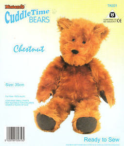 Minicraft Cuddletime Bears Chestnut Teddy craft kit, Ready to Sew