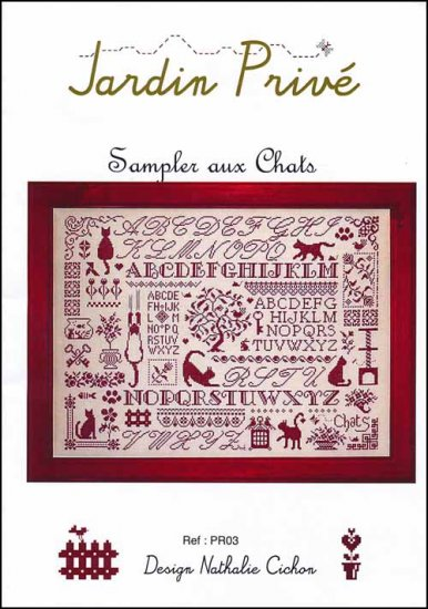 Sampler aux Chats Cross Stitch Chart
