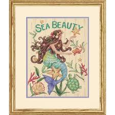 Dimensions Counted Cross Stitch Kit - Sea Beauty