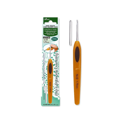 Clover Soft Touch Steel Crochet Hook (from 1.0mm-4.5mm)