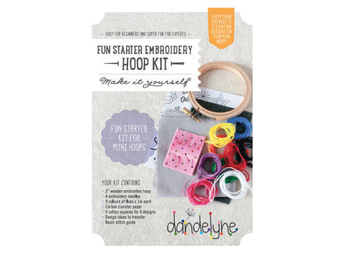 Dandelyne Embroidery Fun Starter Mini Embroidery Pack Kit