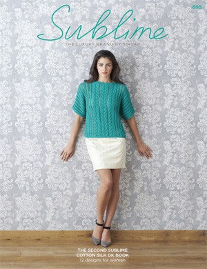 Sublime Egyptian Cotton DK Knitting Pattern Booklet (#695)