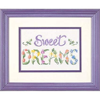 Flowery Sweet Dreams Embroidery Kit By Dimensions