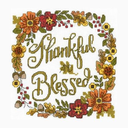 Imaginating Thankful & Blessed Cross Stitch Kit