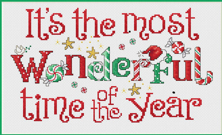 The Most Wonderful Time Cross Stitch Chart