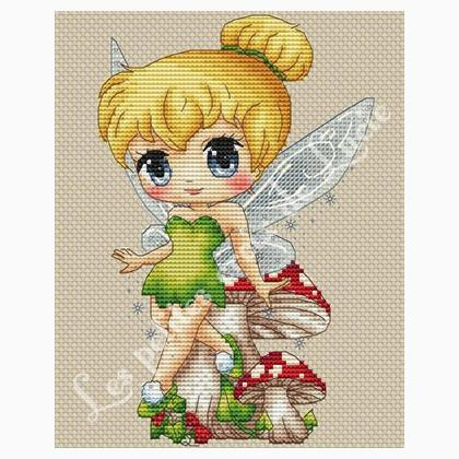 """Tinker Bell"" Cross Stitch Chart"