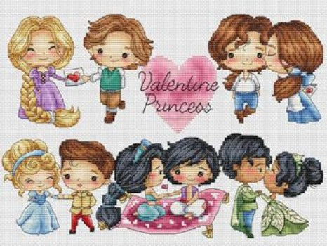 """Valentine Princess"" Cross Stitch Chart"
