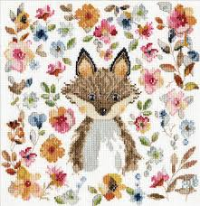 "Design Works Crafts ""Watercolour Fox"" Counted Cross Stitch Kit"