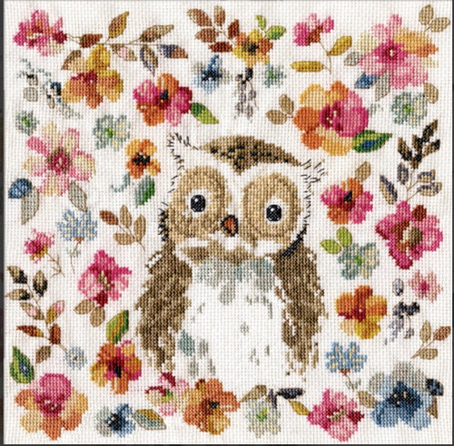 "Design Works Crafts ""Watercolour Owl"" Counted Cross Stitch Kit"